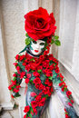 Rose Mask, Carnival. Royalty Free Stock Photo
