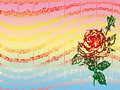 Rose and music Stock Photos