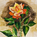 Rose, painting Royalty Free Stock Photo