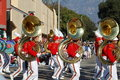 Rose Parade Pasadena marching band Royalty Free Stock Image