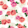 Rose pattern i designed a i drew it with a writing brush and paint this painting continues repeatedly seamlessly Stock Images