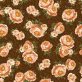 Rose pattern i designed a i drew it with a writing brush and paint this painting continues repeatedly seamlessly Stock Photo