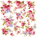 Rose pattern i made a beautiful a painting this painting continues repeatedly i worked in s Royalty Free Stock Images