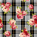 Rose pattern i made a beautiful a painting this painting continues repeatedly i worked in s Royalty Free Stock Photography