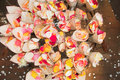 Rose petal confetti Stock Photo