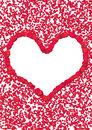 Rose petal heart Royalty Free Stock Photo