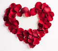 Rose petal heart petals forming a shape with empty space in the middle Stock Images