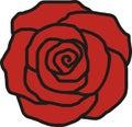 Rose petal icon Royalty Free Stock Photo