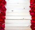 Rose Petals Border Royalty Free Stock Photo