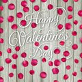 Rose petals on wooden texture eps beautiful colorful vector file included Stock Image
