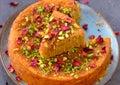 Rose and pistachio vegan Cake Royalty Free Stock Photo