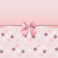 Rose Quartz flower seamless pattern decorated with pink ribbon romance Royalty Free Stock Photo