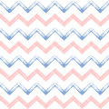 Rose quartz and serenity zigzag chevron grunge seamless pattern Royalty Free Stock Photo