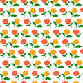 Rose Red Yellow Colorful Seamless Pattern Royalty Free Stock Photo