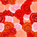 Rose seamless background many flowers Royalty Free Stock Photo