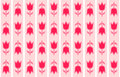 Rose seamless pattern background vector art Royalty Free Stock Photos