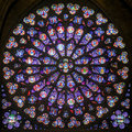 Rose Stained Glass Window In T...