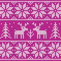 Rose sweater with deer vector ornament Stock Photography