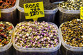 Rose tea in Egyptian Spice Bazaar Stock Image