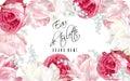Rose tulip perfume banner