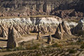 Rose valley in cappadocia turkey amazing geological features Royalty Free Stock Images