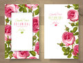 Rose vertical banners Royalty Free Stock Photo