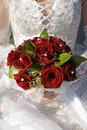 Rose in wedding bouquet Stock Photography