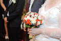 Rose wedding bouquet Stock Foto's
