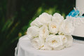 Rose wedding bouquet branca Fotografia de Stock