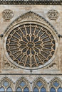 Rose window detail of the of the cathedral of león spain Royalty Free Stock Photography