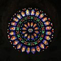 Rose window of medieval cathedral of Todi Royalty Free Stock Photo