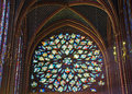 Rose Window of the Sainte Chapelle, Royalty Free Stock Photo