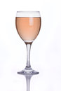Rose wine a glass of on white background Royalty Free Stock Images