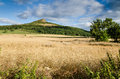 Roseberry topping from the north is an iconic landmark on border of yorkshire an teesside Royalty Free Stock Photography