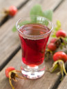 Rosehip liquor Stock Photo