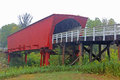 Roseman bridge iowa side view at covered in Stock Photos