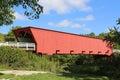 Roseman bridge old covered near winterset iowa Stock Photo