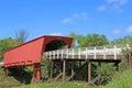 Roseman bridge view at famous covered in iowa scenic on caribbean sea in jamaica Stock Photos
