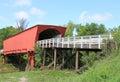 Roseman bridge view at famous film location bridges of madison county iowa scenic on caribbean sea in jamaica Royalty Free Stock Photography