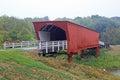 Roseman bridge view at historic covered in iowa Stock Photography