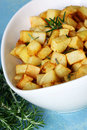 Rosemary Roasted Potatoes Royalty Free Stock Image