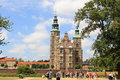 Rosenborg castle copenhagen the front view of in denmark Stock Images