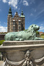 Rosenborg Castle and park in central Copenhagen Royalty Free Stock Photo