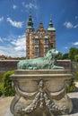 Rosenborg Castle and park in central Copenhagen, Denmark Royalty Free Stock Photo