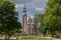 Rosenborg slot copenhaguen denmark the castle in downtown Royalty Free Stock Photos