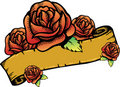 Roses banner vector illustration. Stock Photography
