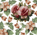 Roses Apple Pattern. Realistic...