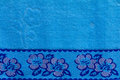 Roses blue cloth background of beautiful with with wrinkles Royalty Free Stock Images
