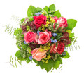 Roses bouquet isolated on white background. pink and red  flower Royalty Free Stock Photo