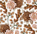 Roses. Camomiles. Ears Pattern...